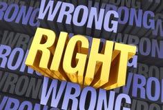 Что право вытекает Стоковое Изображение