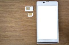 Что тип карточки sim может использовать на вашей черни Стоковые Фото