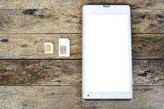 Что тип карточки sim может использовать на вашей черни Стоковое фото RF