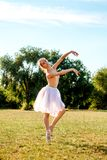 Чувственная балерина в природе стоковое фото