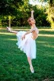 Чувственная балерина в природе стоковое изображение rf