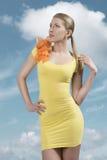 Чувственная девушка с одеждами моды стоковое изображение