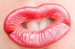 чувственное губ красное Стоковое Изображение