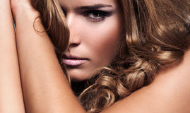 чувствительная женщина Стоковые Фотографии RF