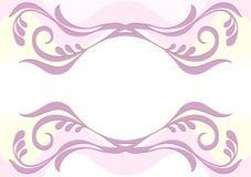 Чувствительная розовая предпосылка с цветочным узором Стоковые Изображения