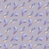 Чувствительные пер акварели на предпосылке сирени бесплатная иллюстрация