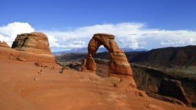 Чувствительный свод вероятно самый известный свод в мире Utha, США стоковая фотография rf