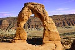 Чувствительный свод вероятно самый известный свод в мире Utha, США стоковая фотография