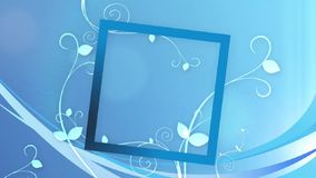 Чувствительная голубая предпосылка оформления с обрамлять названия иллюстрация вектора