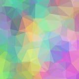 Чувствительная красочная геометрическая предпосылка треугольников Стоковые Фото
