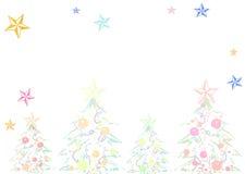 Чувствительная предпосылка рождества иллюстрация штока