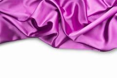 Чувствительная розовая волнистая silk предпосылка Стоковое Изображение RF