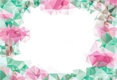 Чувствительная розовая и зеленая абстрактная предпосылка, геометрический состав для вашего дизайна Стоковые Фото