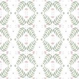 Чувствительная флористическая безшовная картина в ярких пастельных цветах на белой предпосылке Безшовная картина, предпосылка, те Стоковое Фото