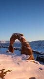 Чувствительный свод на заходе солнца в зиме Стоковые Фотографии RF