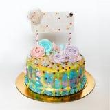 Чувствительный торт на вечеринке по случаю дня рождения для девушек Стоковое Изображение