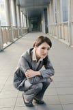 Чувство бизнес-леди унылое стоковое фото