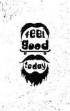 Чувство хорошее сегодня Плакат битника мотивационный Стоковое фото RF