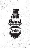 Чувство хорошее сегодня Плакат цитаты битника мотивационный Стоковая Фотография