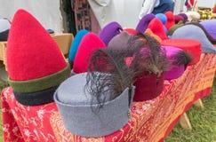 Чувствуемые средневековые шляпы Стоковые Фотографии RF