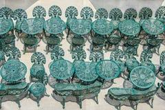 Чугунные таблицы и стулья Стоковое фото RF