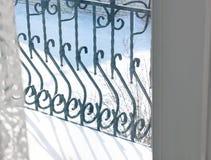 Чугунные элементы балкона Экстерьер стоковое фото