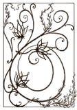 Чугунный гриль на окне Чугунная решетка в стиле Nouveau искусства стоковая фотография rf