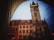 Чудесная башня с часами стоковые изображения