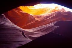 Чудесные цвета верхнего каньона антилопы стоковые изображения rf