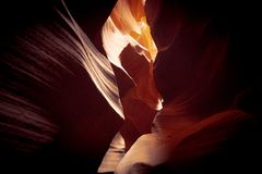 Чудесные цвета верхнего каньона антилопы стоковые фотографии rf