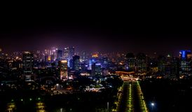 Чудесный взгляд от Monas, Джакарты Индонезии стоковые изображения