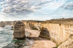 Чудесный вид с воздуха 12 апостолов в Виктории, Австралии Стоковые Фотографии RF