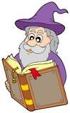 чудодей чтения книги волшебный иллюстрация вектора
