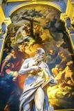 Чудо статуи St Jerome крася Santa Maria Gloriosa de Frari Стоковые Изображения RF