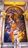 Чудо статуи St Jerome крася Santa Maria Gloriosa de Frari Стоковое Изображение