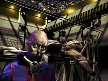 Чужеземец в его корабле Стоковые Фотографии RF