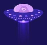 Чужеземец в космическом корабле Стоковые Изображения RF