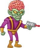 Чужеземец мозга шаржа Стоковые Изображения