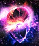 Чужеземец - человеческое лицо в космосе иллюстрация вектора