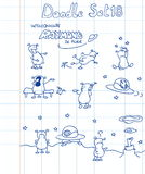 чужеземец doodles смешной комплект Стоковые Изображения