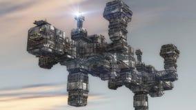 Чужеземец UFO космического корабля Стоковые Изображения