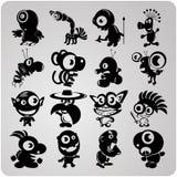 16 чужеземцев контура вектора Стоковые Фотографии RF