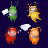 Чужеземцы в типе шаржа Стоковое Изображение RF