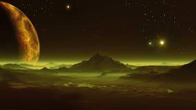 Чужеземцы и UFOs планеты иллюстрация штока