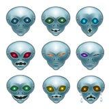 Чужеземцы серого цвета Smiley Стоковые Фото