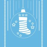 Чулки рождества в шарике xmas Стоковая Фотография RF