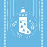 Чулки рождества в шарике xmas Стоковая Фотография