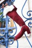 чулок подарка рождества золотистый Стоковая Фотография