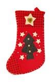 чулок подарков рождества приходя красный Стоковое фото RF