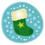 чулок рождества зеленый Стоковые Фото